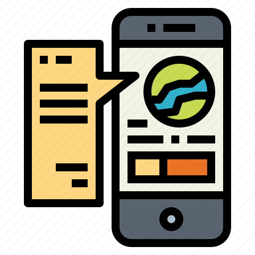 daily, information, news, smartphone icon