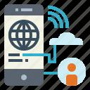 connection, electronics, internet, world icon