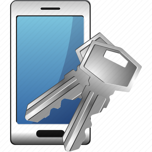 keys, password, security, smartphone icon
