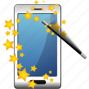 magic, smartphone, wizard icon