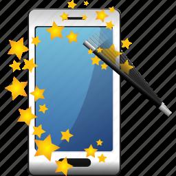 magic, smartphone, wizard icon