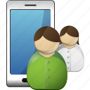 profile, smartphone, users icon