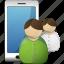 profile, smartphone, users icon