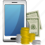 money, smartphone icon