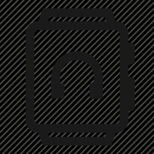 Audio, earphone, music, player, smartwatch, sound, watch icon - Download on Iconfinder