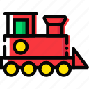 baby, cartoony, child, kid, toy, train icon