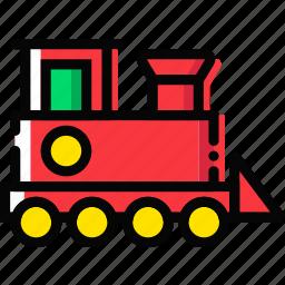 baby, cartoony, child, kid, toy, train icon