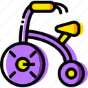 baby, cartoony, child, kid, tricycle icon