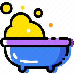 baby, bath, cartoony, child, kid icon