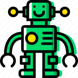 baby, cartoony, child, kid, robot, toy icon