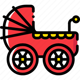 baby, cartoony, child, kid, stroller icon