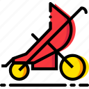 baby, cartoony, child, kid, sport, stroller icon