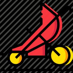 baby, cartoony, child, kid, sport, stroller icon