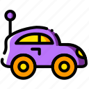 baby, car, cartoony, child, kid, toy icon