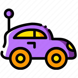 baby, car, cartoony, child, kid, toy icon