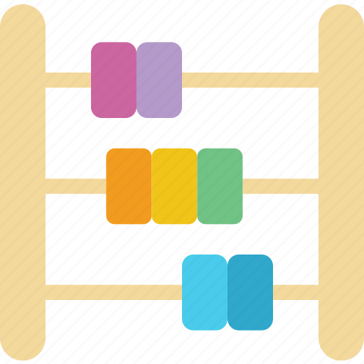 abacus, baby, children, math, toddler icon