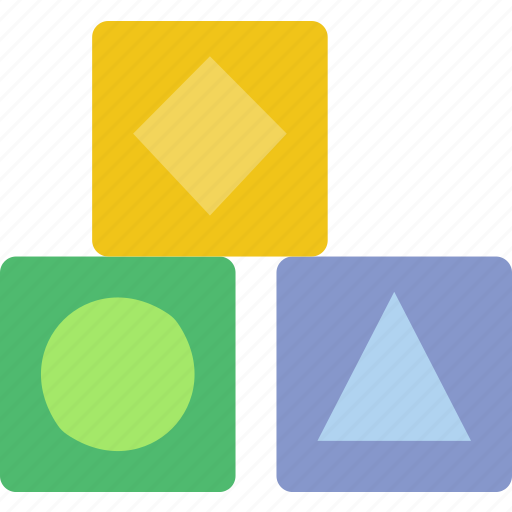 baby, children, cubes, toddler, toy icon
