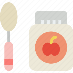 baby, children, food, jar, toddler icon