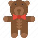 baby, children, teddybear, toddler, toy icon
