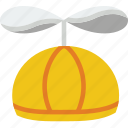 baby, child, clothes, hat, helicopter, kid, toddler icon