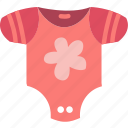 baby, bodywear, children, clothes, girl, toddler icon