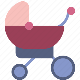 baby, children, park, sleeping, stroller, toddler, walk icon