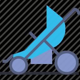baby, children, park, sport, stroller, toddler, walk icon