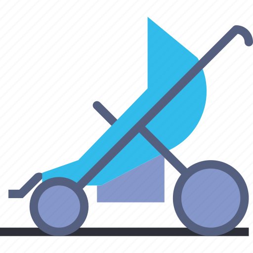 baby, children, park, sport, stroller, toddler, walk icon