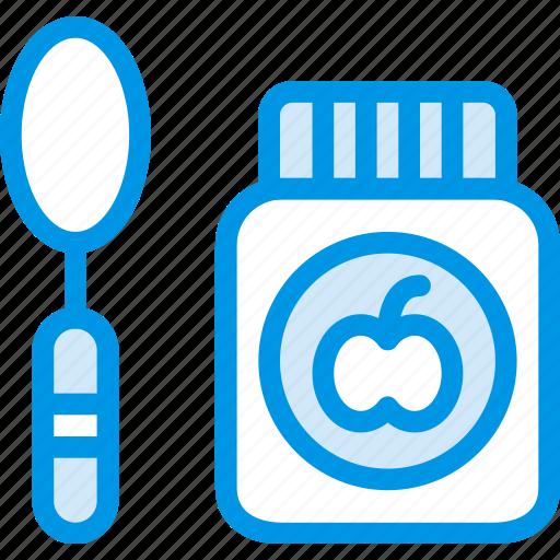 baby, children, food, jar, toddler icon