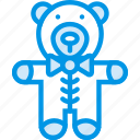 baby, bear, children, teddy, toddler, toy icon