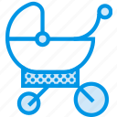 baby, children, park, sleeping, stroller, toddler, walk icon