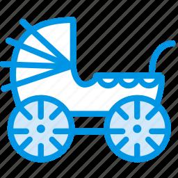 baby, children, park, stroller, toddler, walk icon