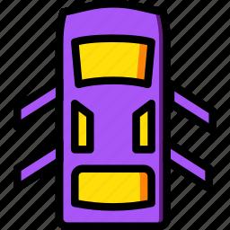 car, doors, open, part, vehicle icon