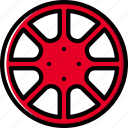 car, part, rim, vehicle icon