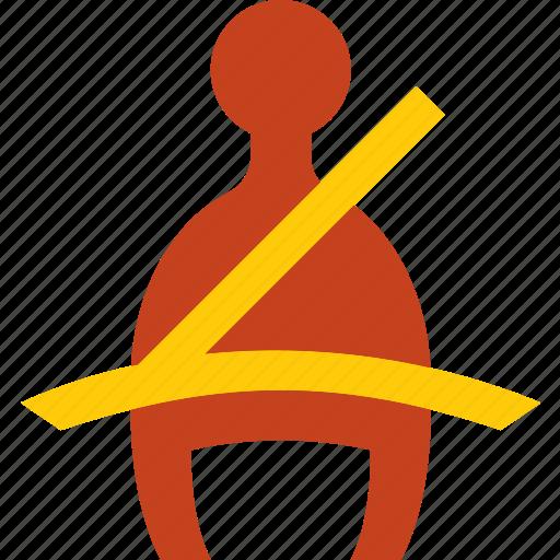 belt, car, part, seat, vehicle, warning icon
