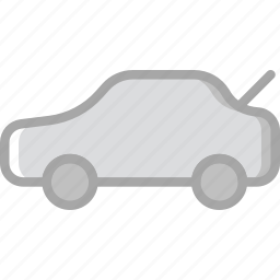 car, open, part, trunk, vehicle icon