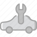 car, due, part, service, vehicle