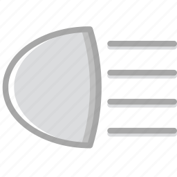 beam, car, lights, main, part, vehicle icon