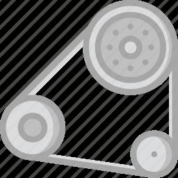 belt, car, engine, part, vehicle icon