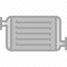 car, part, radiator, vehicle icon