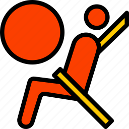 airbag, car, part, vehicle, warning icon
