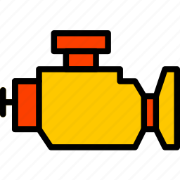 car, engine, part, vehicle, warning icon