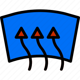 car, defrost, front, part, vehicle icon