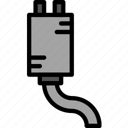 car, exhaust, part, vehicle icon