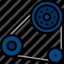 engine, car, part, belt, vehicle
