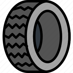 car, part, tire, vehicle icon