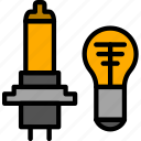 bulb, part, vehicle, car, light