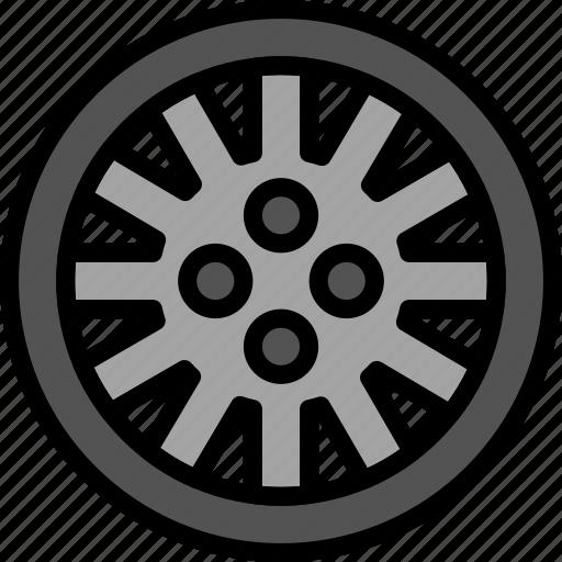 car, part, rim, vehicle icon