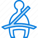 belt, car, part, seat, vehicle, warning icon