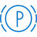 car, parking, part, sensor, vehicle icon